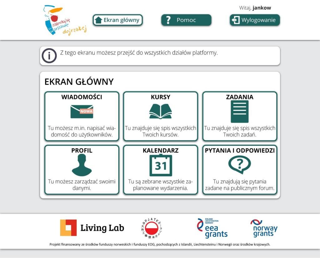 eSenior portal main page.